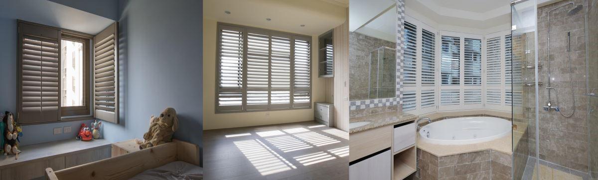 單開、對開窗型、多開窗型(LTLRTR),以及多開窗型(八角窗型)三種。(圖由左到右)