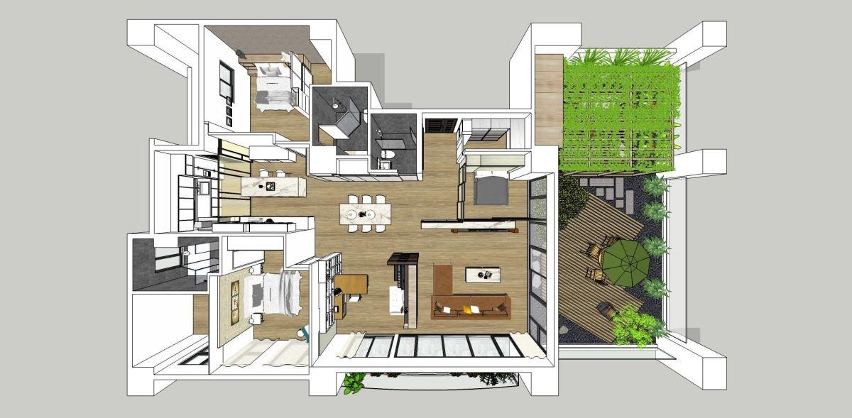 3D 圖提供_將作空間設計。