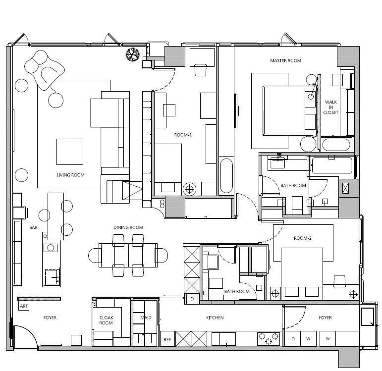 平面圖提供_奇逸空間設計。