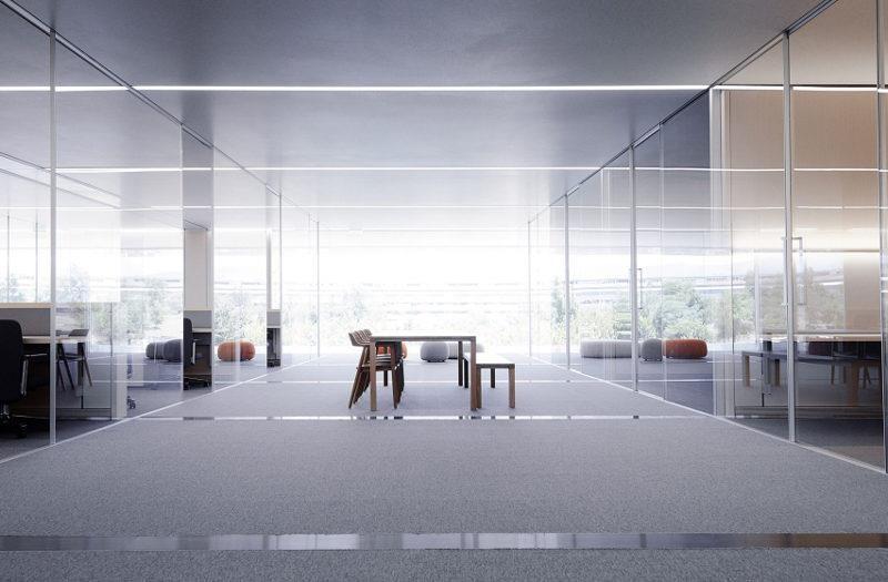 有著無敵美景的現代空間在 Apple 的新總部。>>看完整文章
