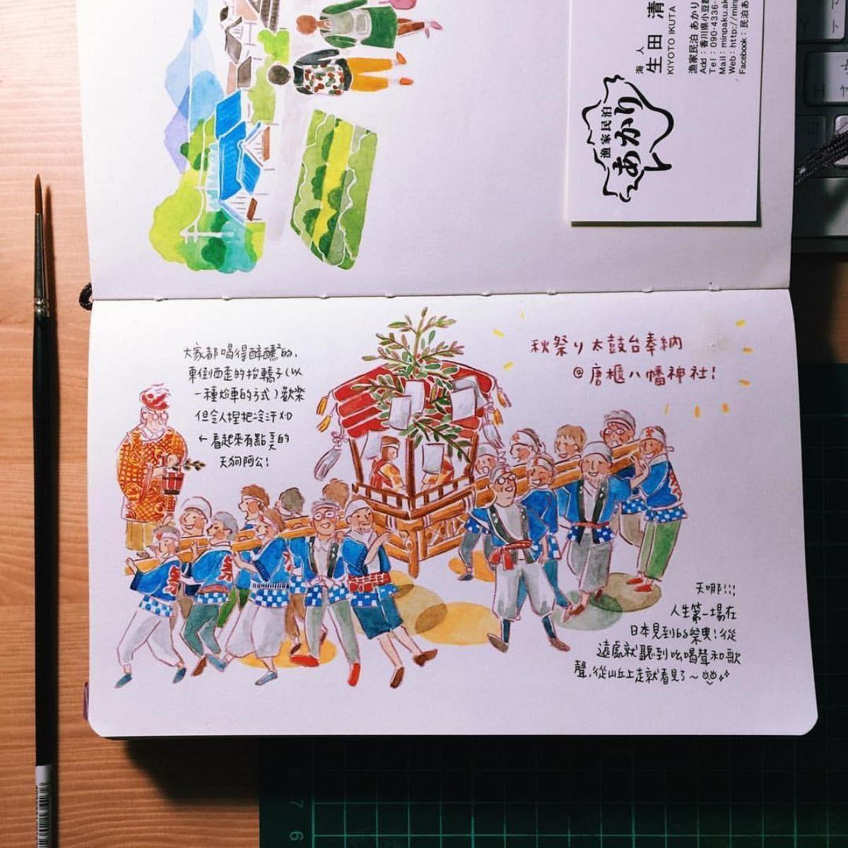 壘摳的手帳插畫(壘摳提供)