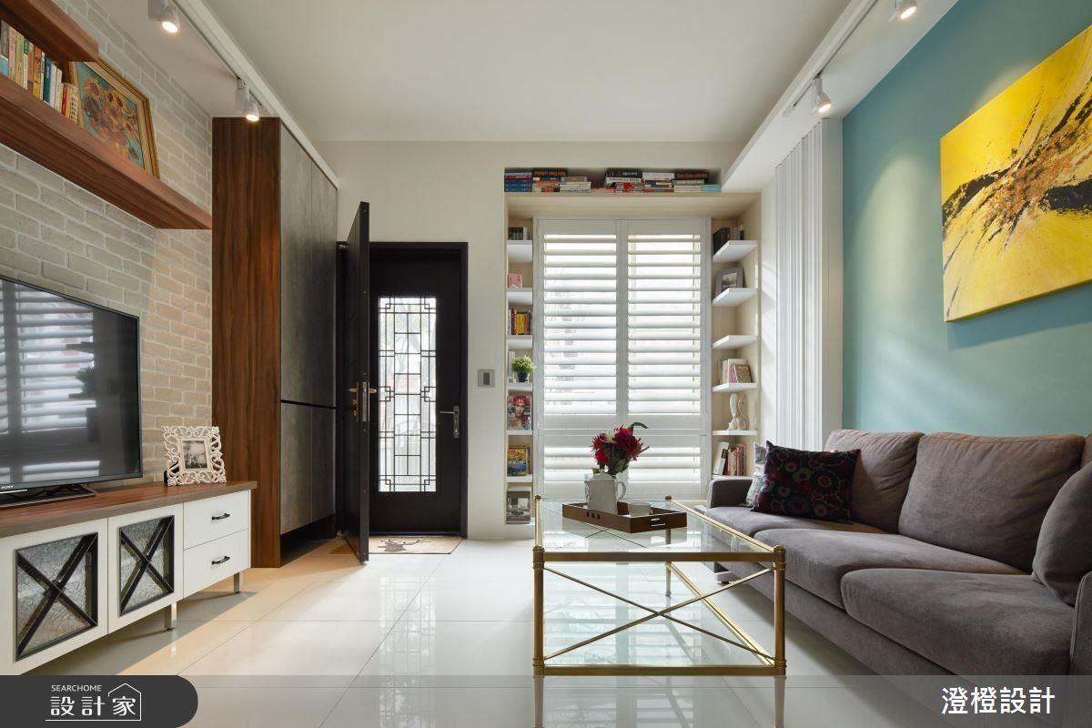 規劃ㄇ字型書櫃,豐富窗框形成耳目一新的風景。
