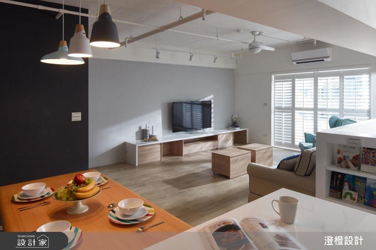 以黑白色系為牆面及空間注入簡約格調。