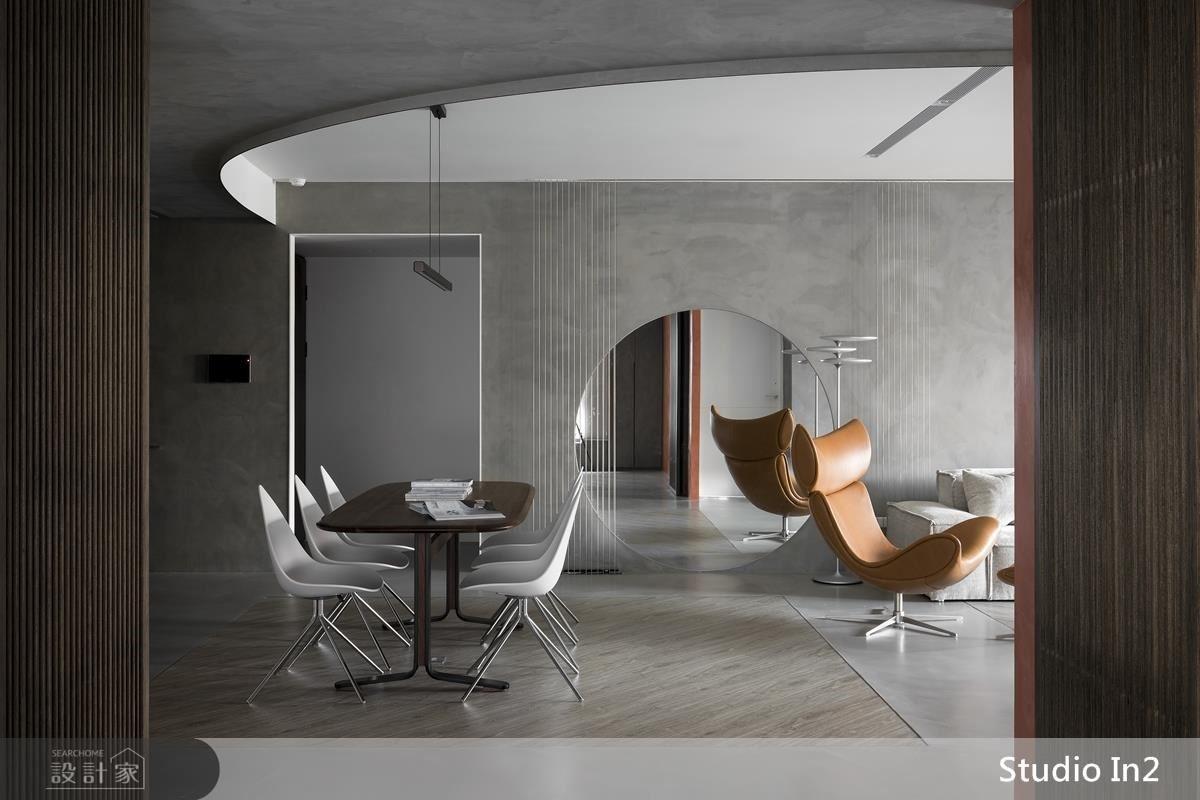 設計師將曲線、直線、方塊造型帶入空間,使居家不受限於東、西方設計,而是一個「未來的當代」面貌。