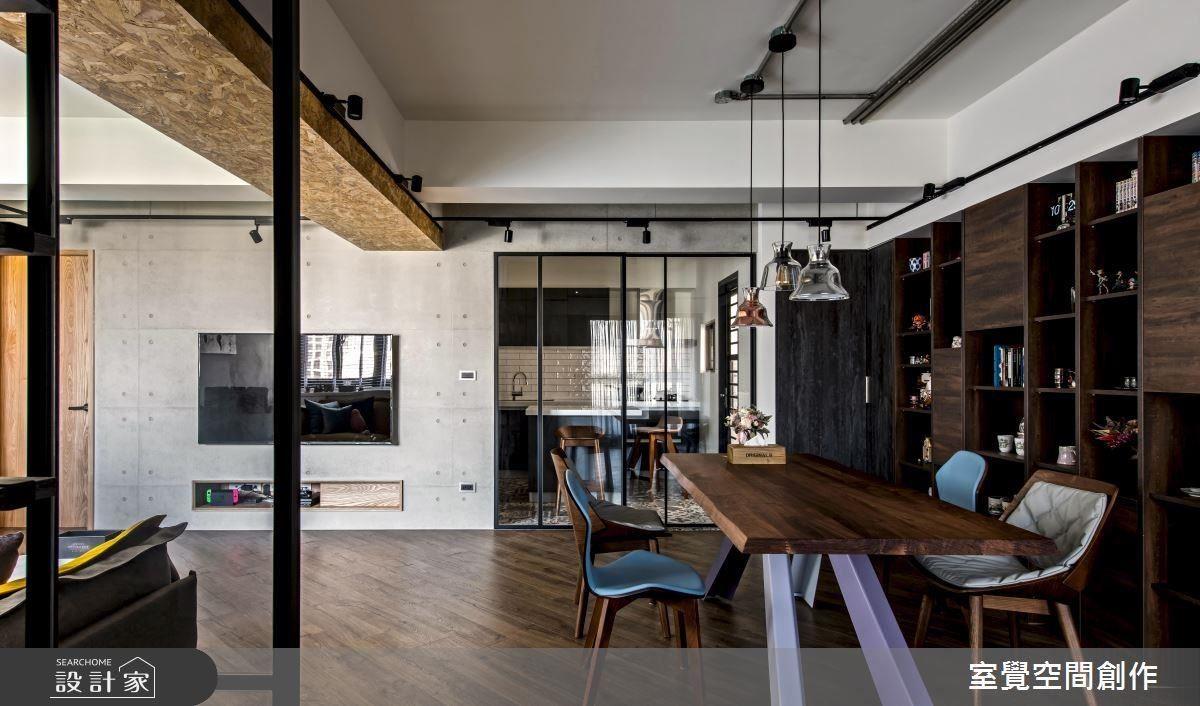 設計師運用材質並掌握空間設計,改善老屋陰暗低矮的問題,打造個性新婚宅。