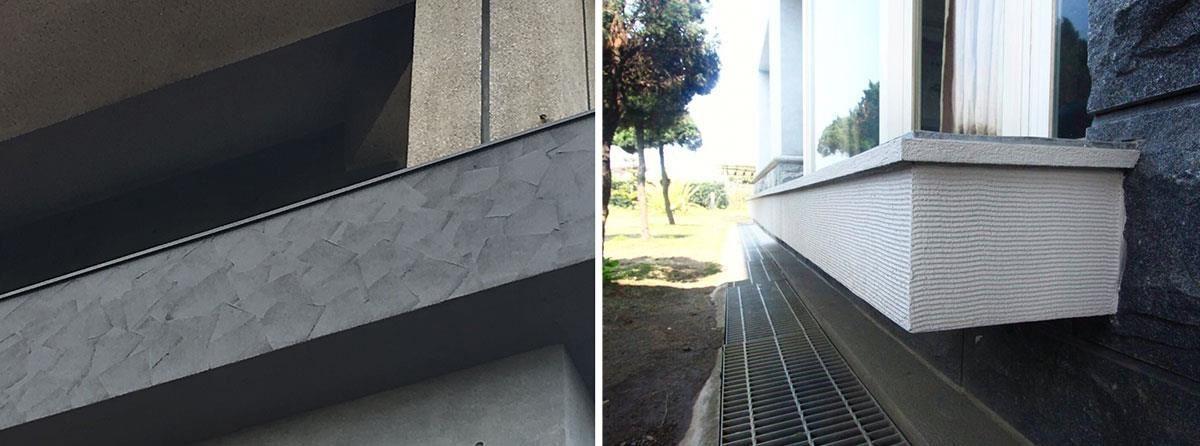 層次分明的刀抹、形似枯山水的立體波紋,都是 GR 工法獨有的藝術效果。