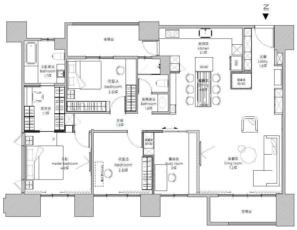 平面圖提供_築悅空間設計。