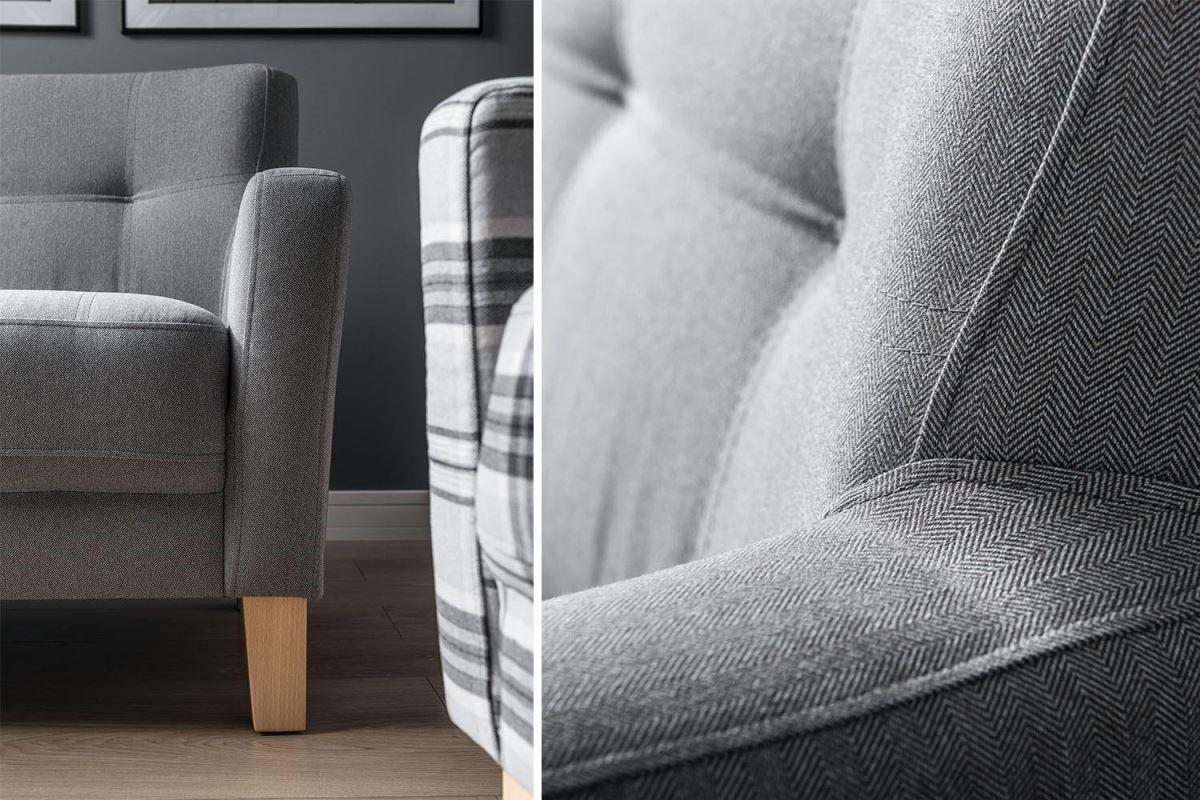 設計師考量腳材特徵、沙發車線與外觀流線等細節,使Roce系列處處散發溫和柔軟氣息。