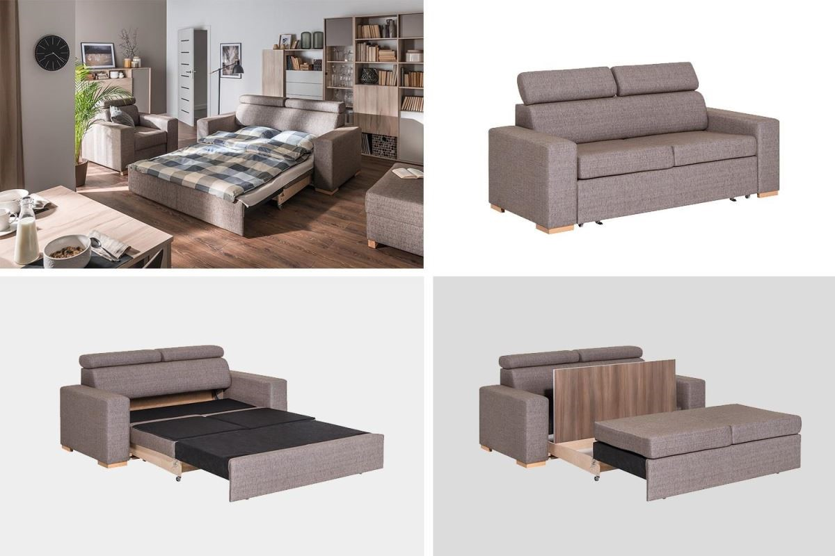 Milton系列變身沙發床時,除了作為休息場所,亦可作為放鬆娛樂與家人遊戲互動的舒適空間,整座配有2個隱藏式收納儲物盒,可收納日常用品與居家寢具。