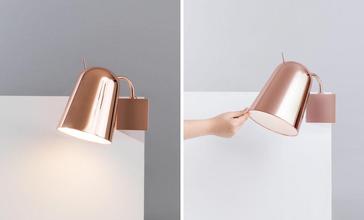 「DODO 嘟嘟鳥」壁燈,靈感來自於嘟嘟鳥的俏皮外觀,燈罩可自行調整角度。