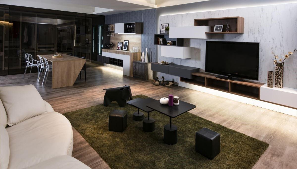 強調全居家設計的雅登廚飾,在《 2019 台灣國際建築、建材空間設計展》中,推出家事間與餐、廚無縫接軌的概念,巧妙整合三大場域。