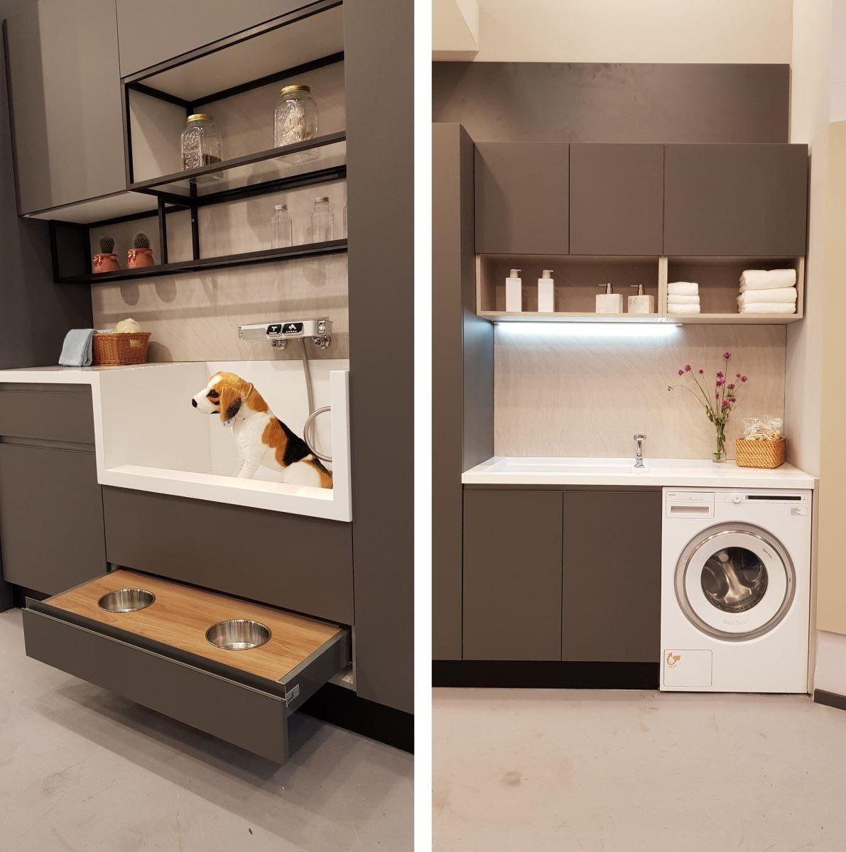 在家事間規劃寵物梳洗平檯,更符合現代人的生活需求。