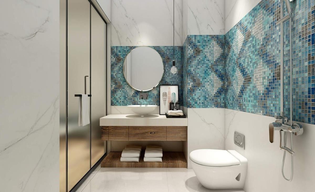 「創意玩家」透過數碼彩繪技術,將花磚效果鋪設在衛浴牆面,帶來耳目一新的異國風尚。