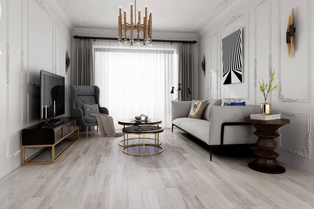 淺色木紋的鋪設與安排,非常符合新古典、北歐風的質感營造,醞釀優雅氣度。