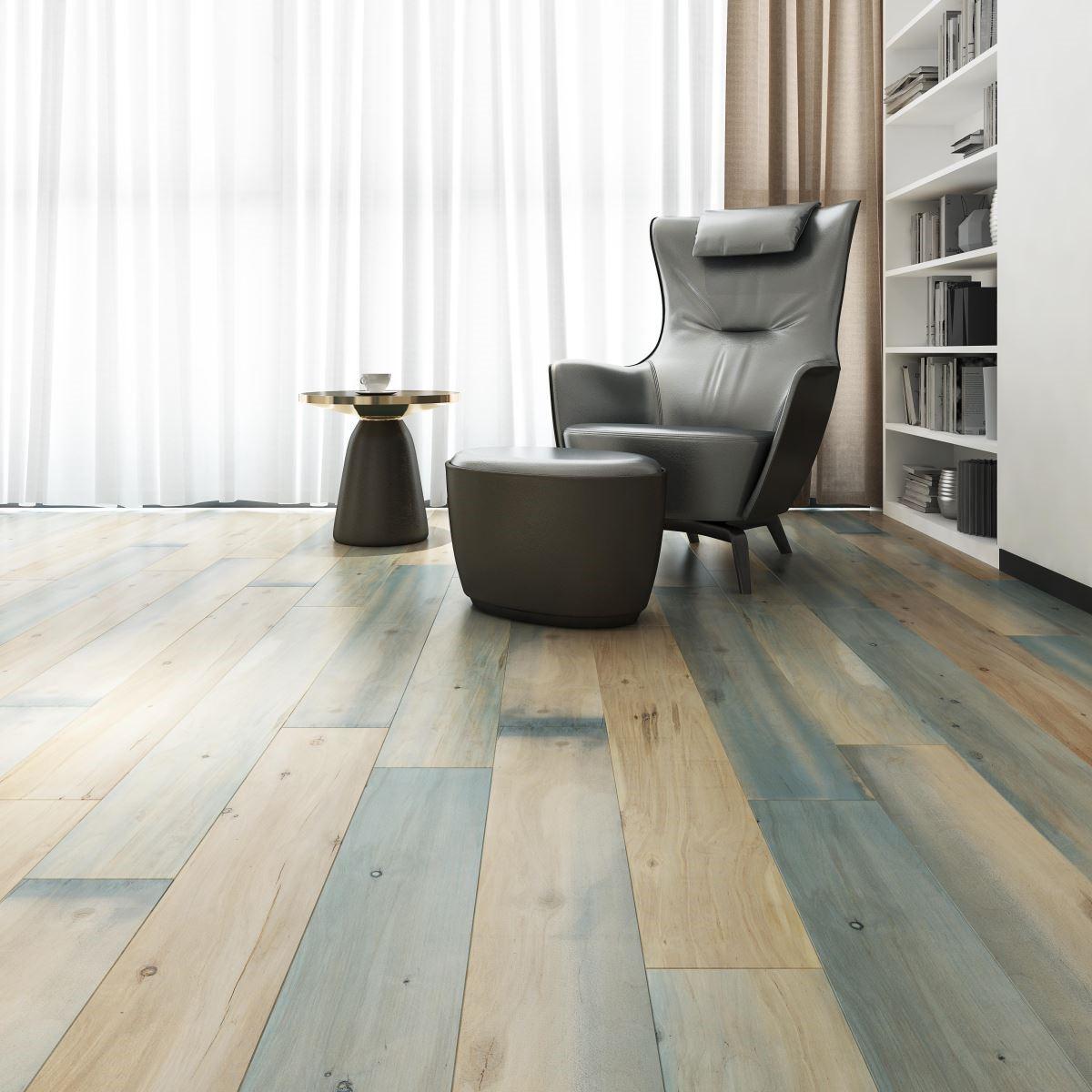 擁有數碼彩繪技術的「創意玩家」,讓一般木紋也可彩繪上色,替溫潤的家屋空間增添活潑、跳躍的氣息。