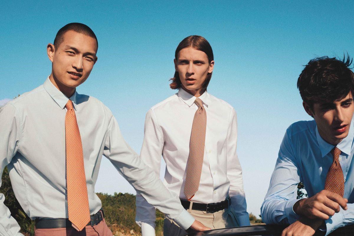 愛馬仕的第一件男性領帶配件,源於1949年,起因是當時沒有打領帶的客人不允許進入愛馬仕坎城店附近的賭場之故。(圖片提供:愛馬仕HERMÈS)