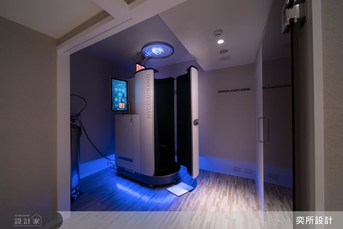 因應高設計設備需求,設計師預先丈量空間尺度,打造令客人享受的頂級舒適療程。