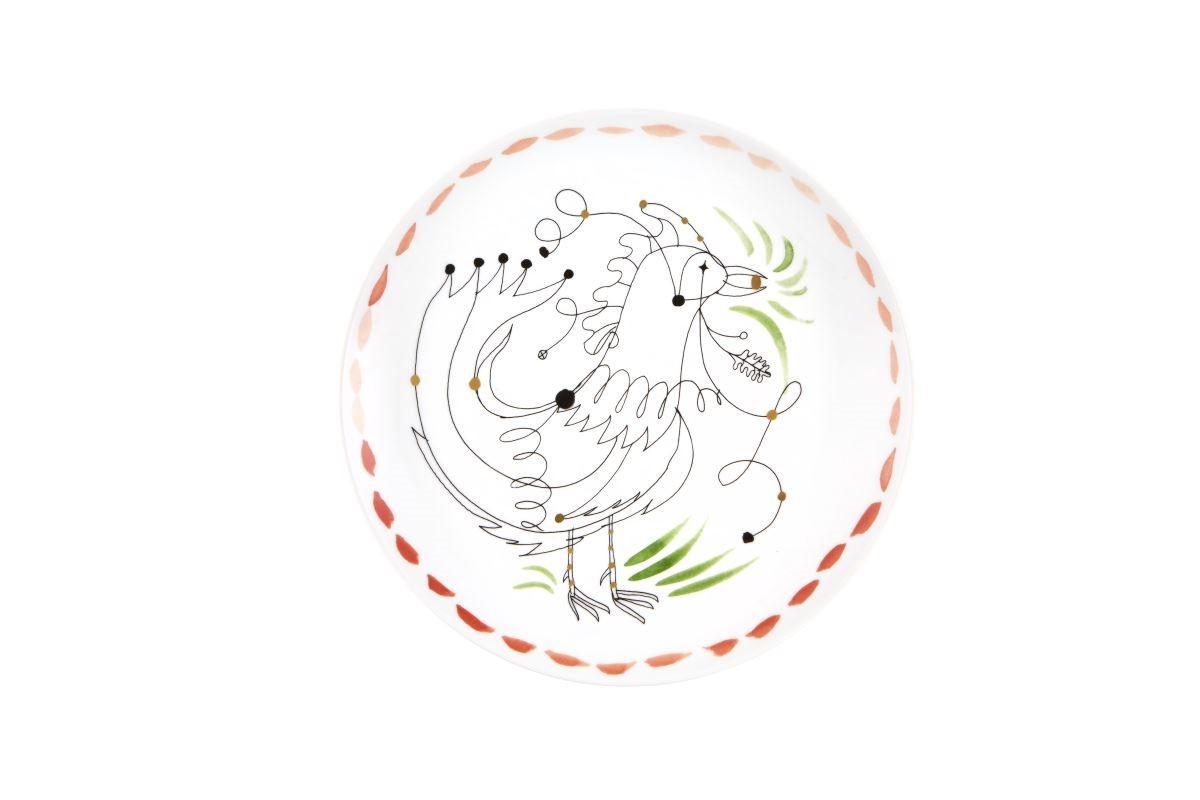 透過Jaime Hayon率性而童趣的線條描繪他心目中的葡萄牙─公雞、各式動物和鄉村意象。