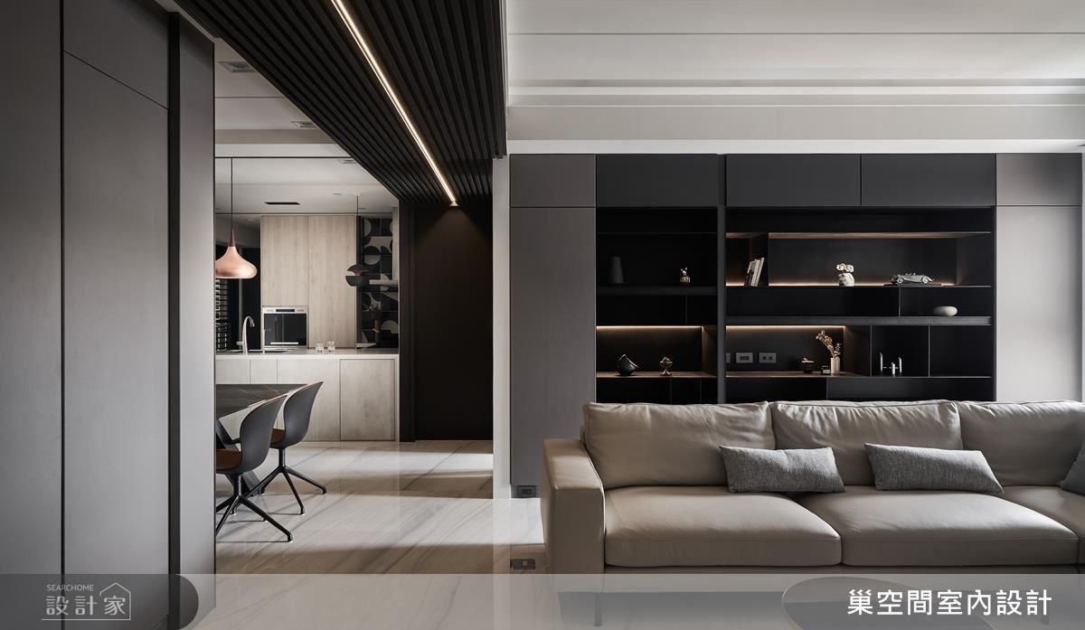 廊道藉燈帶設計引導視覺動線,更創造時尚伸展台效果。