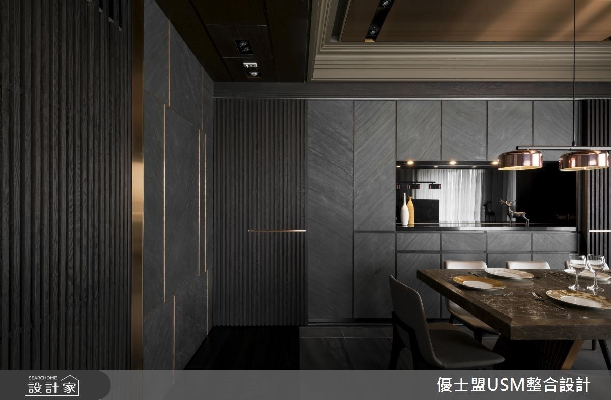 踏入低調奢華的50坪現代禪風宅,設計師在生活動線、燈