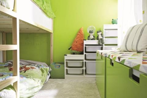 動靜之間的兒童樂園 雙胞胎的男孩臥室與親子書房