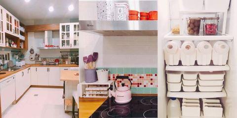 用了 9 年的廚房,竟然比你家的還乾淨! 連冰箱和菜都收整齊了!