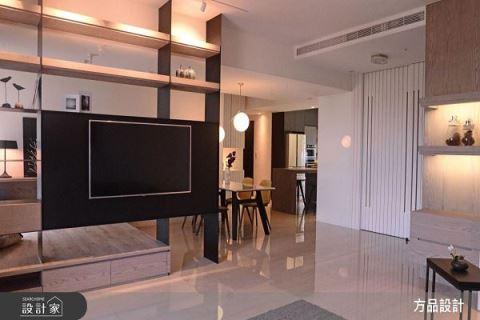 美型高機能電視牆 40坪敞亮現代宅 方品室內裝修設計工程有限公司 張紜珮
