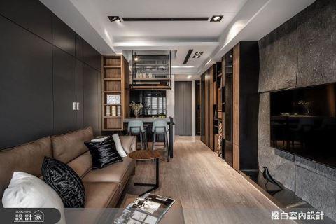 16坪擁有滿室收納 異材質碰撞出美感現代宅 橙白室內裝修設計工程有限公司 朱長義 陳欣慧