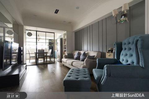 美式風格搭配無毒綠建材 23坪老屋翻新記 上陽室內設計 上陽設計團隊
