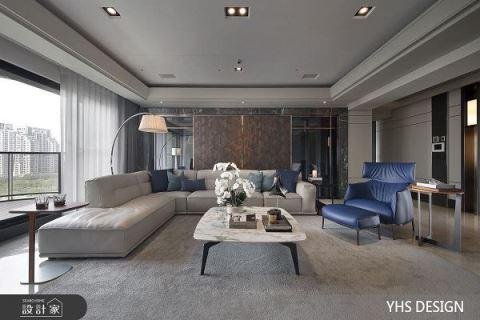 景觀是最好的裝潢!輕敲現代風豪宅的黃金大門 YHS DESIGN設計事業 楊煥生、郭士豪