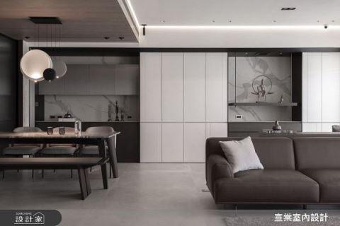 山景之間的禪意 54坪現代風格宅 宣棠室內設計 李宜達