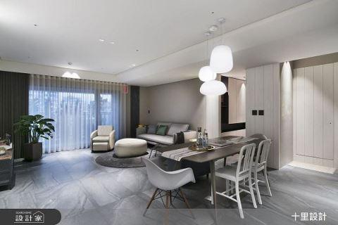 灰白配不簡單 乾淨具機能的雙人現代宅 十里設計 王俊彥、李芸樺