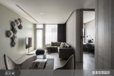 圓的溫柔宣言 35坪低飽和減壓現代居家 湜湜空間設計 湜湜設計團隊