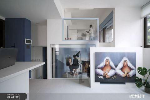 藝術家的北歐藍調小宅 15坪夾層新天地 樂沐制作空間設計 陳聖元