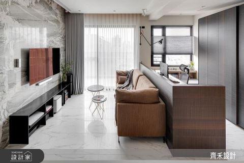 24坪空間感倍增 華爾街的夢幻現代樂章 齊禾設計有限公司 宋豪毅