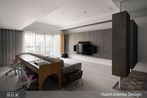 灰階內斂 彰顯純粹美好的現代舒適宅 合砌設計有限公司 合砌設計團隊