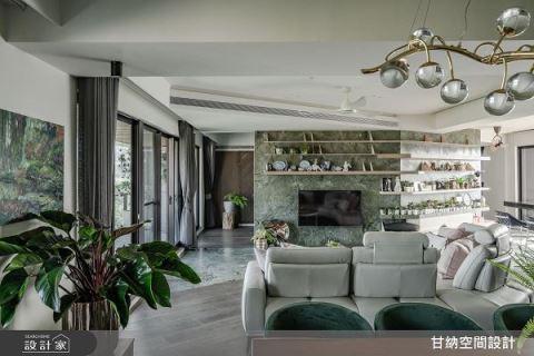擁抱自然每一天 單層3房墨綠混搭度假宅 甘納空間設計 林仕杰、陳婷亮