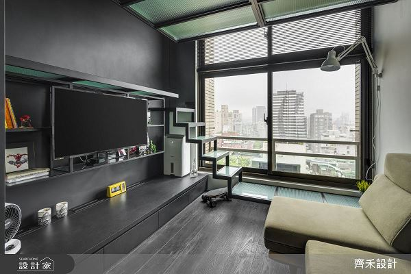 5坪夾層竟有旋轉衣櫃 超大LOFT海洋單身宅 齊禾設計 宋豪毅、胡智強