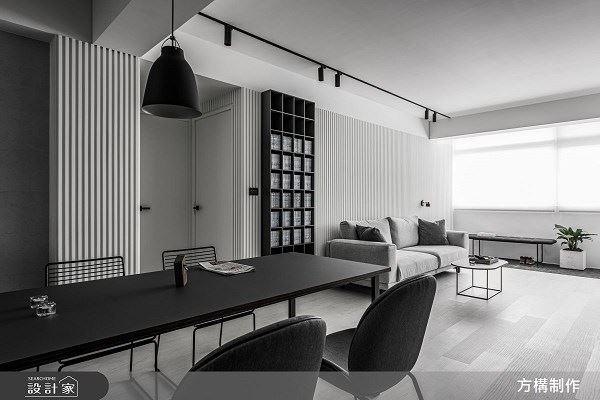 顛覆老屋想像 宛如經典黑白照都會極簡宅 方構制作空間設計 彭任民