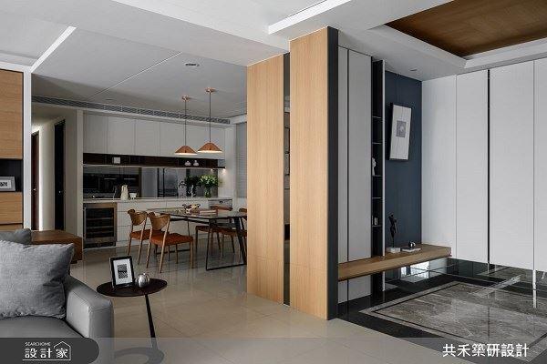 清晰明亮 石材木皮堆疊的人文現代宅 共禾築研設計有限公司 陳煜棠