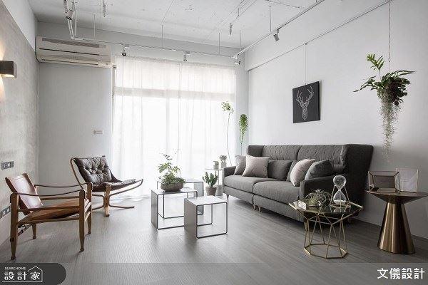 38坪療癒宅 植栽搭配黑灰白完美反轉中古屋 文儀室內裝修設計有限公司 李紹瑄