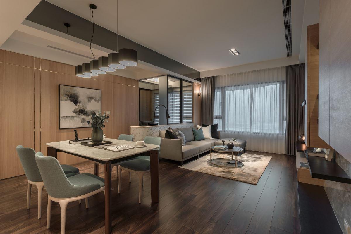 木質石材完美結合 成就舒適質感宅 馥築時尚設計 湯鎮安