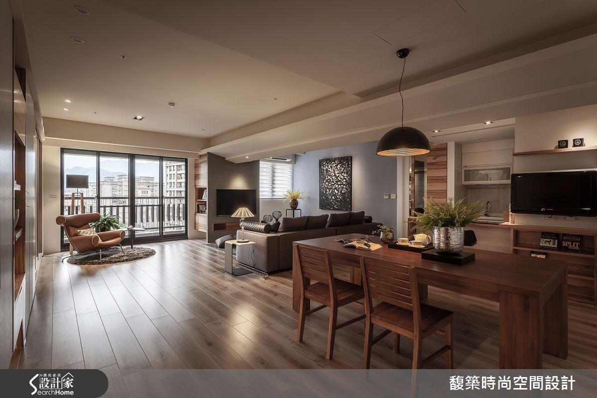解密空間限制 開放格局打造38坪現代雅宅 馥築時尚設計 湯鎮安