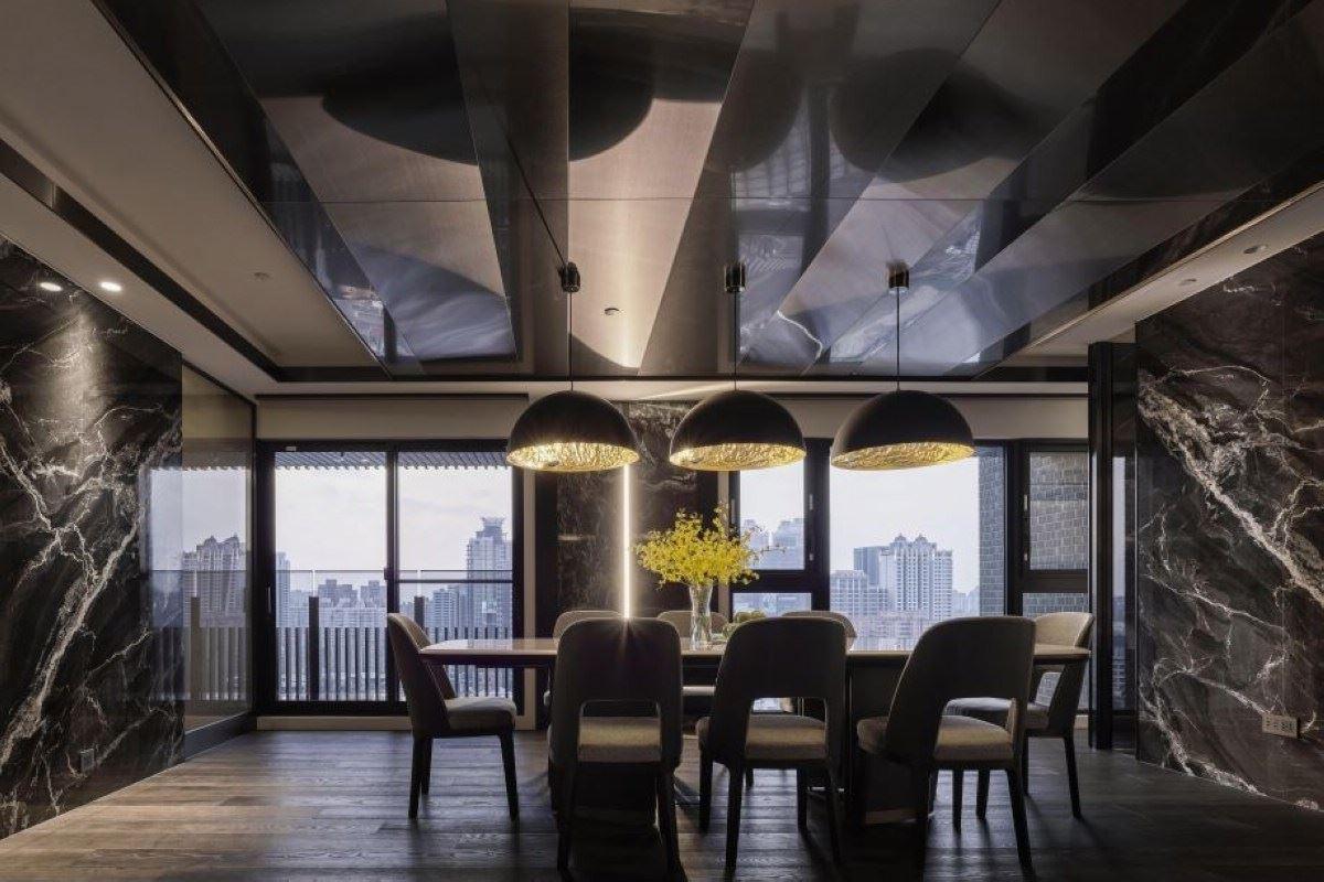 頂級石材夢幻展演 用長型屋挑戰奢華極限 綵韻室內設計有限公司 吳金鳳、范志聖