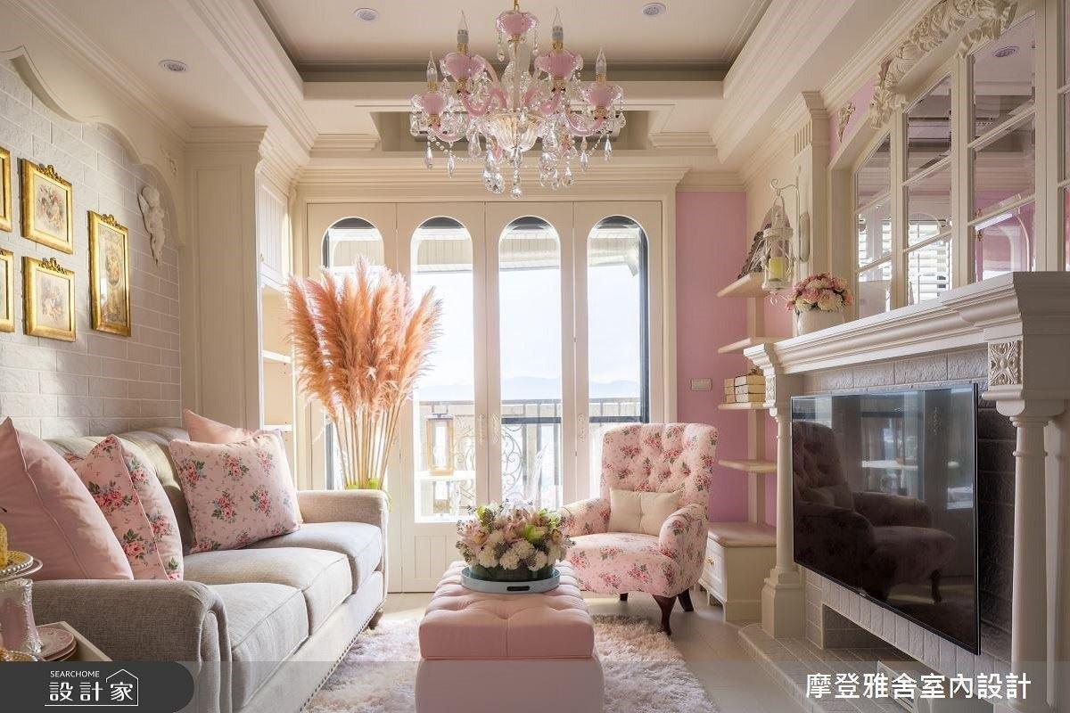 法式馬卡龍粉紅夢!!玫瑰相隨公主魅力養成 摩登雅舍室內設計 汪忠錠、王思文