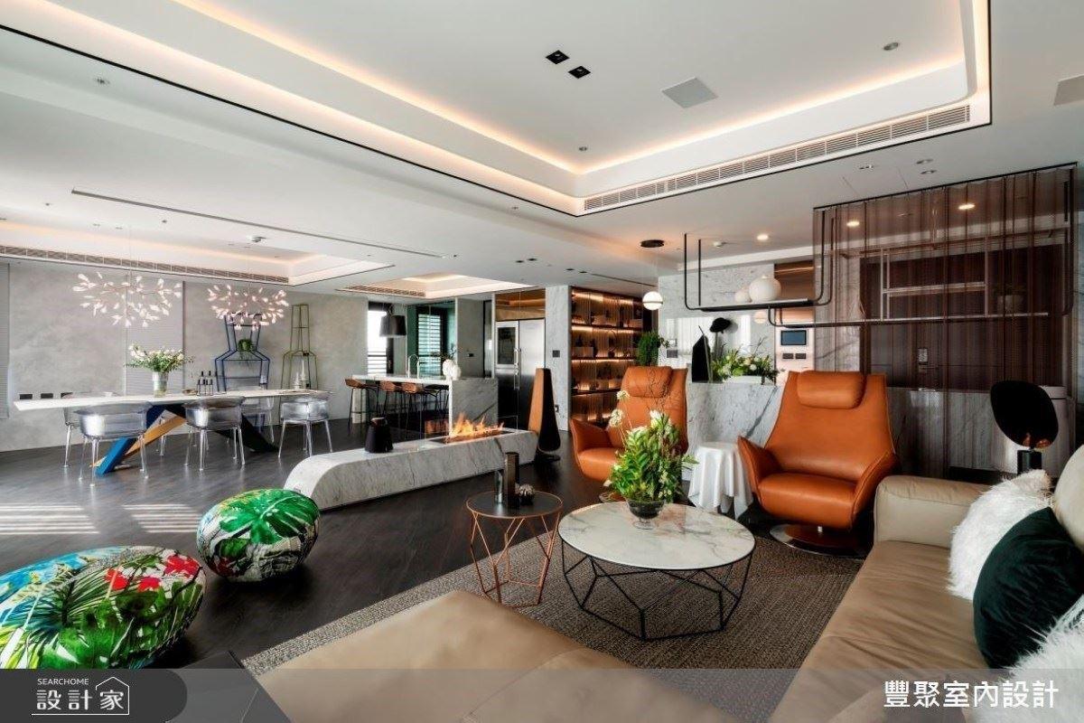 頂級百坪大宅!給你視覺與生活的獨特饗宴 豐聚室內設計 黃翊峰、李羽芝