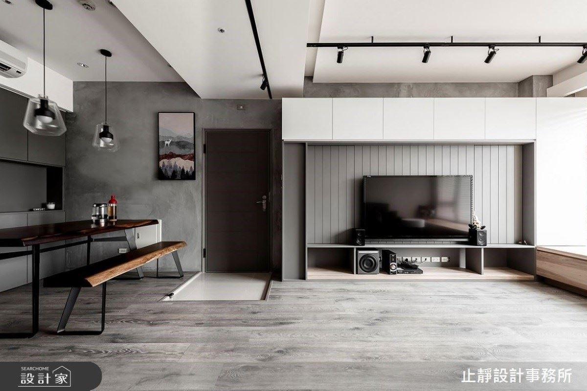 心如止水 黑灰白的沉靜質感系居宅 止靜設計事務所 止靜設計團隊