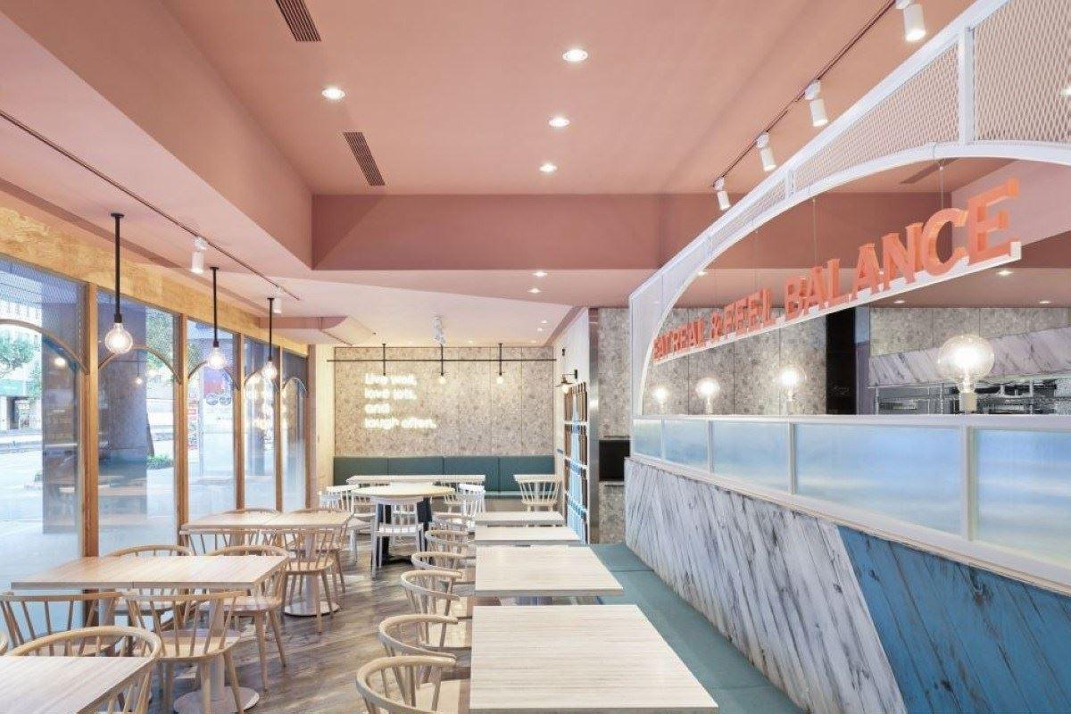 甜萌氛圍的品牌記憶 網美必拍的地中海輕食餐廳!開物設計 楊竣淞、羅尤呈