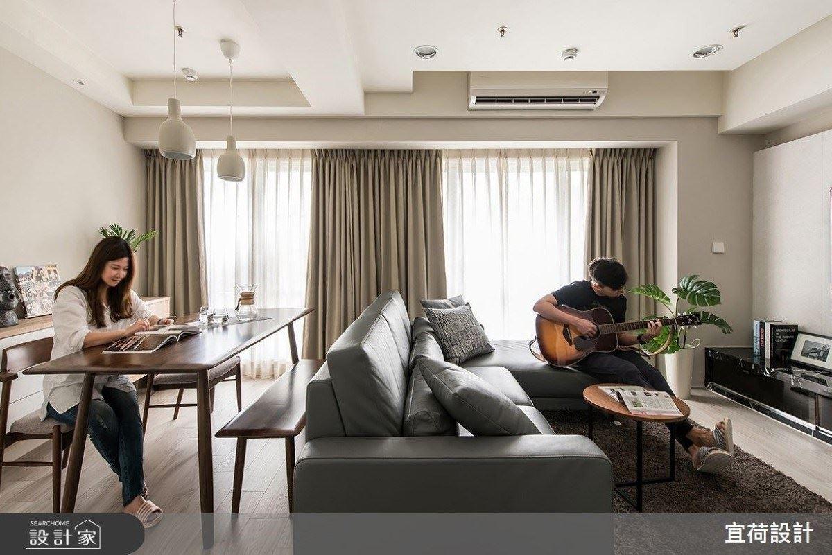 老公更愛彈吉他!小倆口的22坪飯店質感宅 宜荷設計 宋志鍾