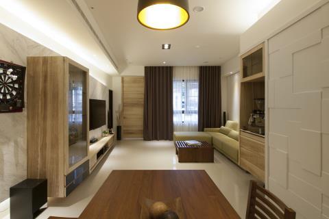 線條層次與圓弧柔和藝術  碰撞出居宅幸福模樣 震騰室內裝修設計 李家偉